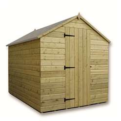 7 x 6 Windowless Pressure Treated Tongue And Groove Apex Shed With Single Door