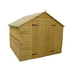 12FT x 8FT Windowless Pressure Treated Tongue And Groove Apex Shed With Double Doors