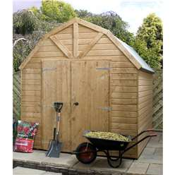 8 x 8 Deluxe Windowless Tongue and Groove Dutch Barn (12mm Tongue and Groove Floor and Roof)***Extended Delivery Typically 14 Working Days As Treated As Special