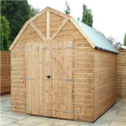 10ft x 8ft Deluxe Windowless Tongue and Groove Dutch Barn (12mm Tongue and Groove Floor and Roof)***Extended Delivery Typically 14 Working Days As Treated As Special