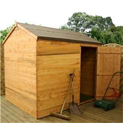 6 x 8 Tongue And Groove Reverse Apex Windowless Shed (10mm Solid OSB Floor)**Extended Delivery Typically 14 Working Days As Treated As Special- Please See Product Page For More Info