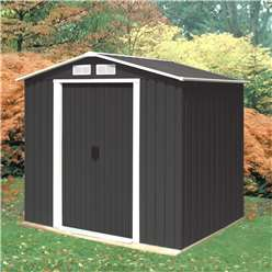 6ft x 8ft Select Anthracite Metal Shed (2.01m x 2.42m)