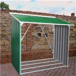6ft x 2ft Select  Metal Woodstore (1.66m x 0.62m)