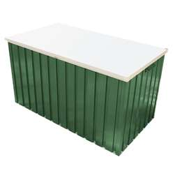 4ft x 2ft Select Green Metal Storage Box (1.28m x 0.68m)