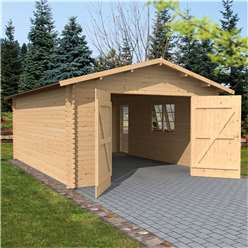 13ft x 18ft (4.2m x 5.7m) Garage (Single Glazing) (34mm)