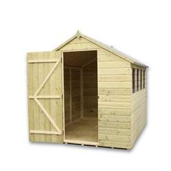 12 x 6 Pressure Treated Tongue And Groove Apex Shed With 6 Windows And Single Door
