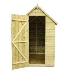 10 x 4 Windowless Pressure Treated Tongue And Groove Apex Shed With Single Door