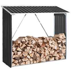 **PRE ORDER - DUE BACK IN STOCK 15TH JUNE** 6ft x 2ft Select Anthracite Metal Woodstore (1.66m x 0.62m)