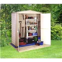 5 x 3 Select Duramax Plastic PVC Shed With Steel Frame (1.73m x 0.97m) + Floor