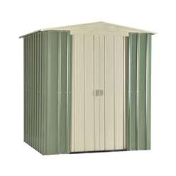 **PRE-ORDER: DUE BACK IN STOCK 31ST OCTOBER** 6 x 5 Premier EasyFix Mist Green Apex Shed (1.71m x 1.44m