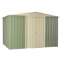 10ft x 8ft Premier EasyFix Mist Green Apex Shed (3.07m x 2.47m)