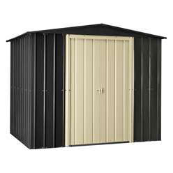 **PRE-ORDER: DUE BACK IN STOCK MID DECEMBER** 8 x 6 Premier EasyFix Slate Grey Apex Shed (2.33m x 1.75m)