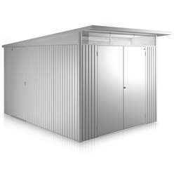 8FT X 12FT XX LARGE PREMIUM HEAVY DUTY DARK GREEN METAL SHED WITH DOUBLE DOORS (2.6M X 3.8M)