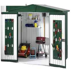 6FT X 3FT PREMIUM HEAVY DUTY DARK GREEN METAL SHED (1.72M X 0.84M)