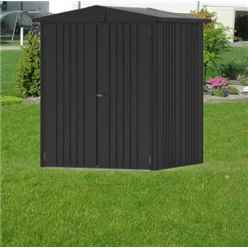 6FT X 5FT PREMIUM HEAVY DUTY METALLIC DARK GREY METAL SHED (1.72M X 1.56M)
