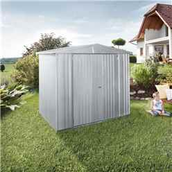 6FT X 5FT PREMIUM HEAVY DUTY METALLIC SILVER METAL SHED (1.72M X 1.56M)