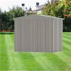 8FT X 5FT PREMIUM HEAVY DUTY QUARTZ GREY METAL SHED (2.44M X 1.56M)
