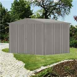 10 X 7 PREMIUM HEAVY DUTY QUARTZ GREY METAL SHED (3.16M X 2.28M)