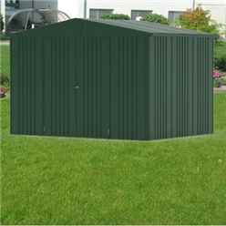 10FT X 7FT PREMIUM HEAVY DUTY DARK GREEN METAL SHED (3.16M X 2.28M)
