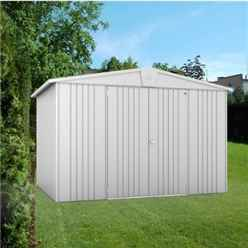 10FT X 7FT PREMIUM HEAVY DUTY METALLIC SILVER METAL SHED (3.16M X 2.28M)