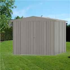 8FT X 10FT PREMIUM HEAVY DUTY QUARTZ GREY METAL SHED (2.44M X 3M)