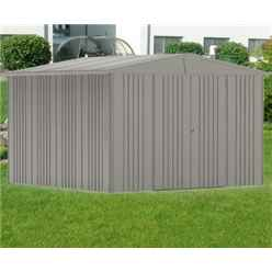 10FT X 10FT PREMIUM HEAVY DUTY QUARTZ GREY METAL SHED (3.16M X 3M)