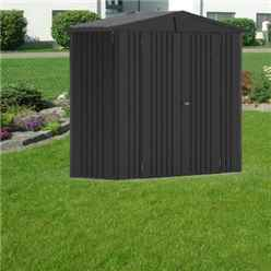 8FT X 3FT PREMIUM HEAVY DUTY METALLIC DARK GREY METAL SHED (2.44M X 0.84M)