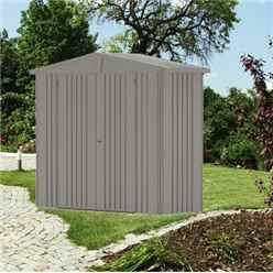 8FT X 3FT PREMIUM HEAVY DUTY QUARTZ GREY METAL SHED (2.44M X 0.84M)