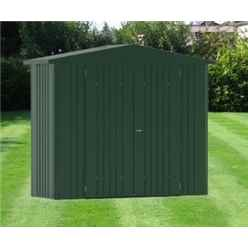 8FT X 3FT PREMIUM HEAVY DUTY DARK GREEN METAL SHED (2.44M X 0.84M)