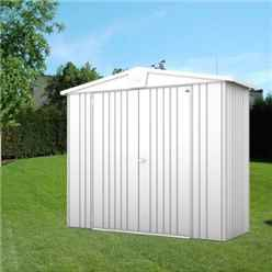 8FT X 3FT PREMIUM HEAVY DUTY METALLIC SILVER METAL SHED (2.44M X 0.84M)