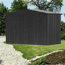 10FT X 5FT PREMIUM HEAVY DUTY METALLIC DARK GREY METAL SHED (3.16M X 1.56M)