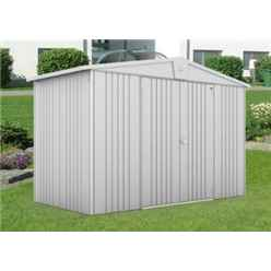 10FT X 5FT PREMIUM HEAVY DUTY METALLIC SILVER METAL SHED (3.16M X 1.56M)