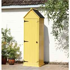 Yellow Yarmouth Beach Style Apex Sentry Shed 2ft x 2ft