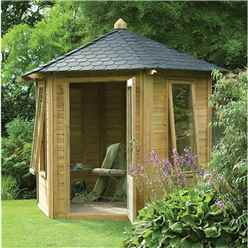 11 x 9 Florence Summerhouse - ASSEMBLED