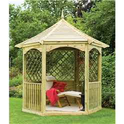 9 x 8 Elena Wooden Gazebo - ASSEMBLED