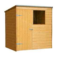 6 x 4 Pent Shiplap Tongue and Groove Shed