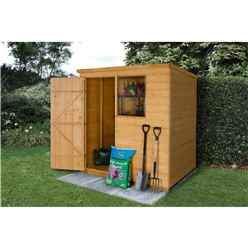 6 x 4 Pent Shiplap Tongue and Groove Shed - ASSEMBLED
