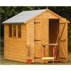 8 x 6 Heavy Duty Shiplap Tongue and Groove Apex Shed