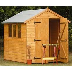 8 x 6 Heavy Duty Shiplap Tongue and Groove Apex Shed - ASSEMBLED