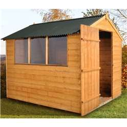 8 x 6 Shiplap Tongue and Groove Apex Shed With Onduline Roof