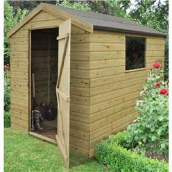8 x 6 Pressure Treated Tongue and Groove Shiplap Apex Shed - ASSEMBLED