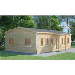6m x 10m Premier Classroom Log Cabin - 70mm Wall Thickness - Double Glazing