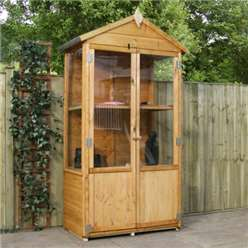 3 x 2 Tall Wooden Greenhouse - 48HR + SAT Delivery*