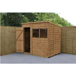 7 x 5 Dip Treated Pent Overlap Shed - INSTALLED