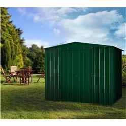 **PRE-ORDER: DUE BACK IN STOCK 31ST OCTOBER** 8 x 8 Apex Heritage Green Metal Shed (2.34m x 2.37m)
