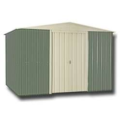 10 x 12 Apex Mist Green Metal Shed (2.95m x 3.61m)