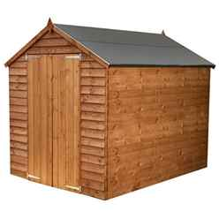 INSTALLED 8 x 6 Windowless Overlap Apex Shed With Double Doors (Solid 10mm OSB Floor) - INCLUDES INSTALLATION