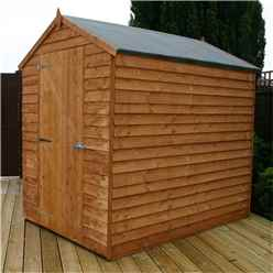 INSTALLED 7 x 5 Windowless Overlap Apex Shed With Single Door (10mm Solid OSB Floor and Roof) - INCLUDES INSTALLATION