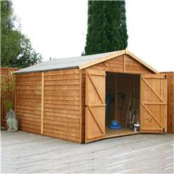 INSTALLED 20 x 10 Windowless Overlap Apex Workshop (10mm Solid Osb Floor) - INCLUDES INSTALLATION