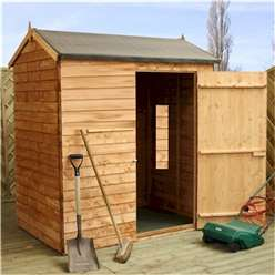 INSTALLED 4 x 6 Windowless Reverse Overlap Apex Shed With Single Door (10mm Solid Osb Floor) - INCLUDES INSTALLATION